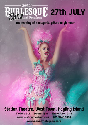 Hayling Island What's On Event Starlet's Burlesque Show Poster