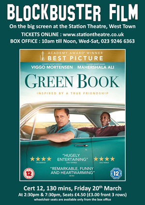Hayling Island What's On Event Green Book Poster