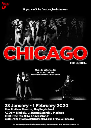 Hayling Island What's On Event CHICAGO - The Musical Poster