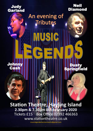 Hayling Island What's On Event Legends Poster