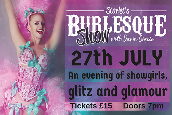 Hayling Island What's On Event Starlet's Burlesque Show