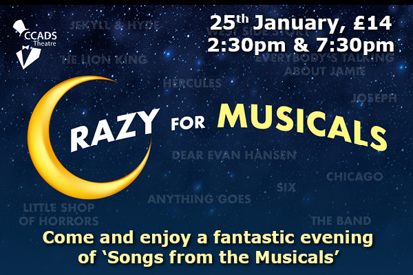 Hayling Island What's On Event Crazy for the Musicals