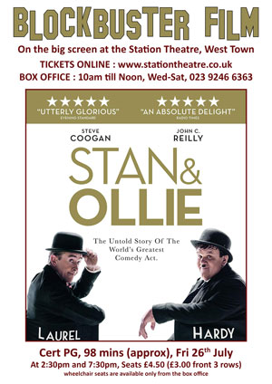 Hayling Island What's On Event Stan and Ollie Poster