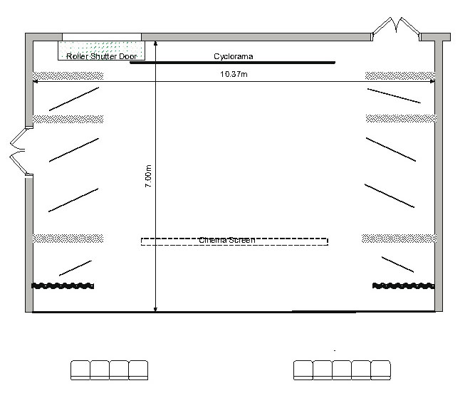 Station Theatre Stage Layout and Dimensions
